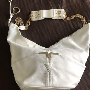 bebe white purse